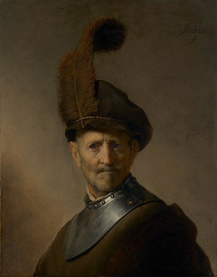 An Old Man in Military Costume (The J. Paul Getty Museum)
