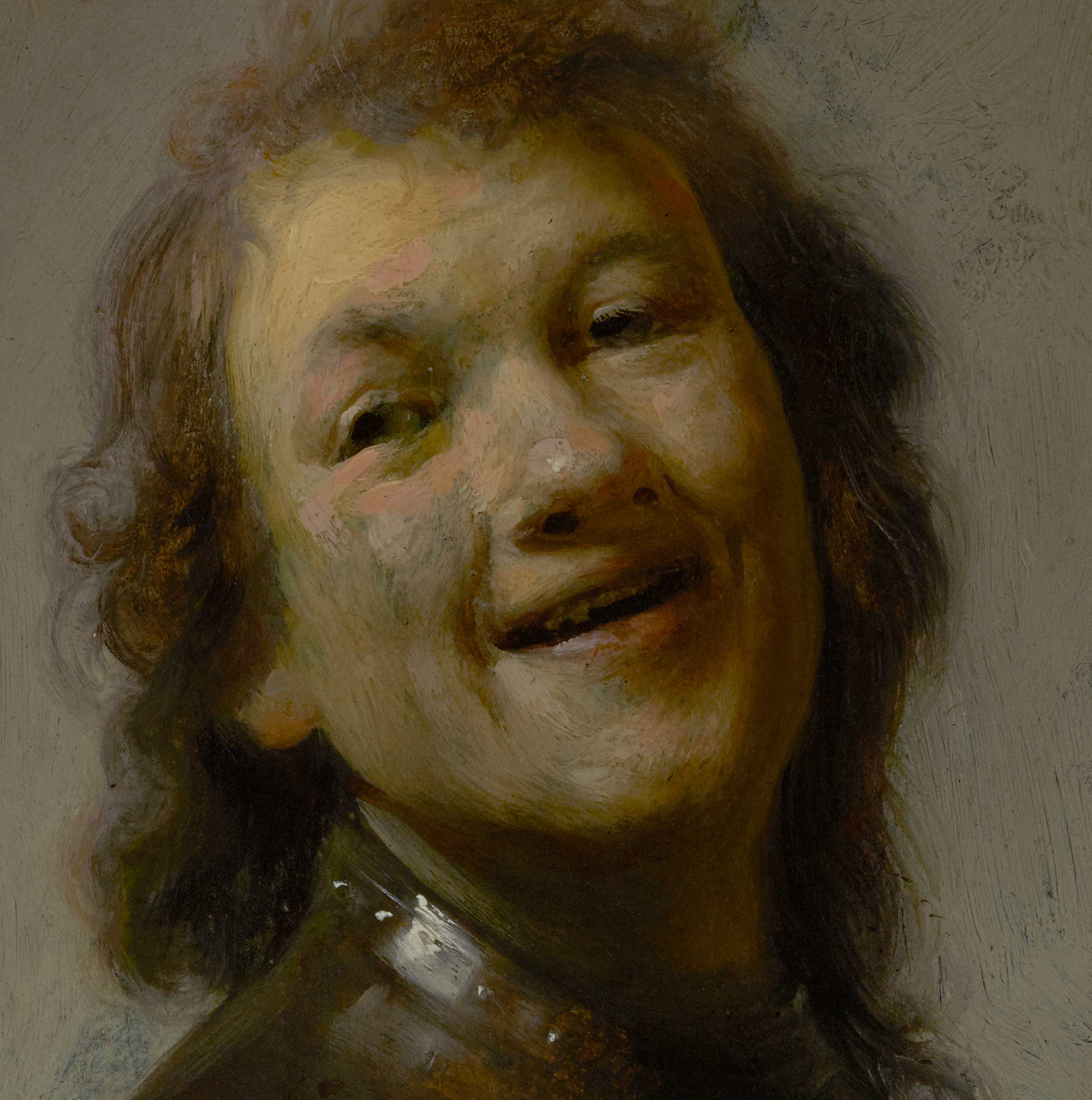 Detail of Rembrandt Laughing (The J. Paul Getty Museum)
