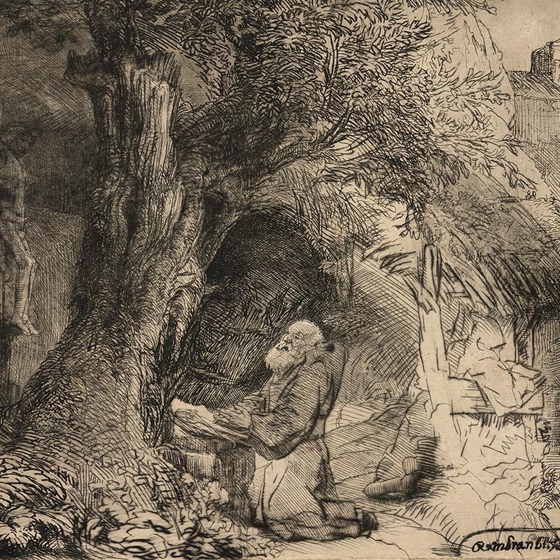 St. Francis Beneath a Tree Praying