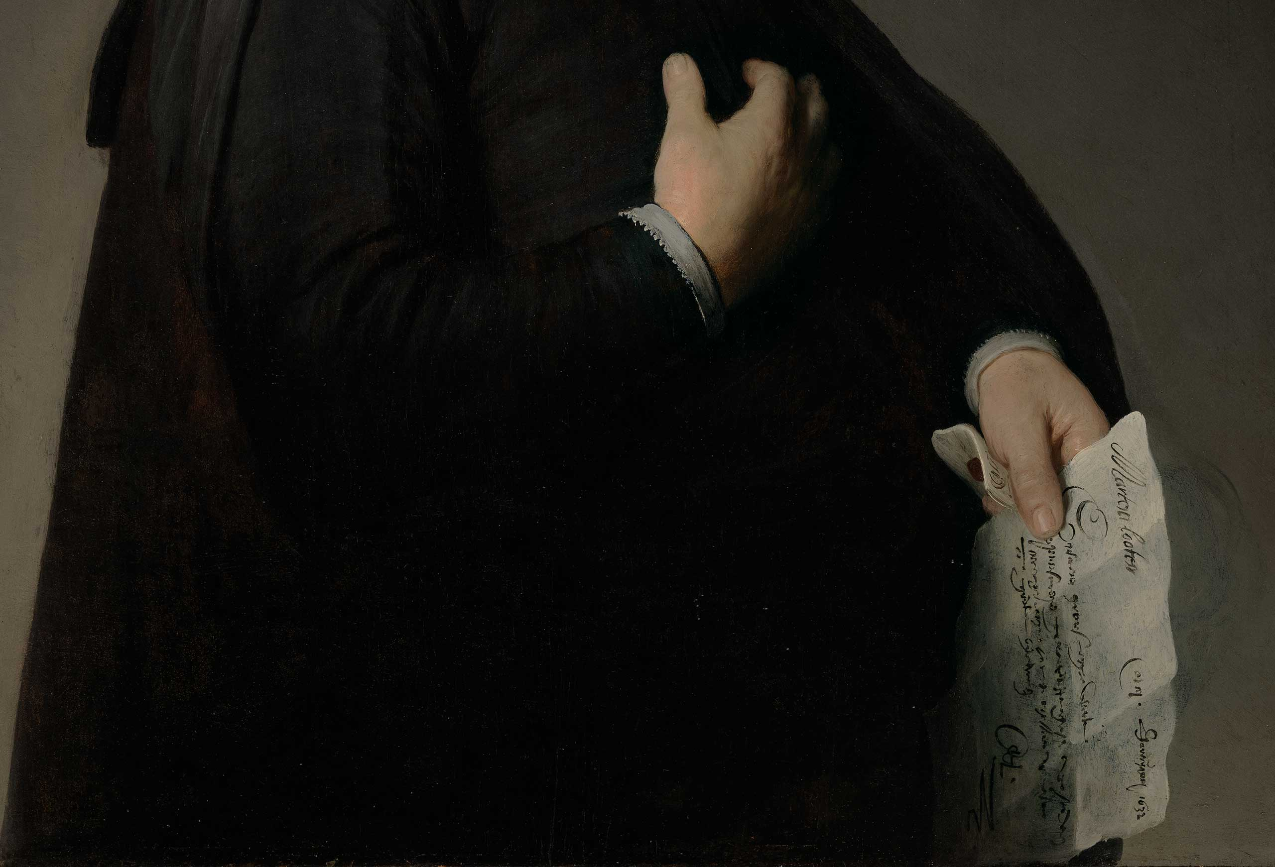 Portrait of Marten Looten - Detail (Los Angeles County Museum of Art)