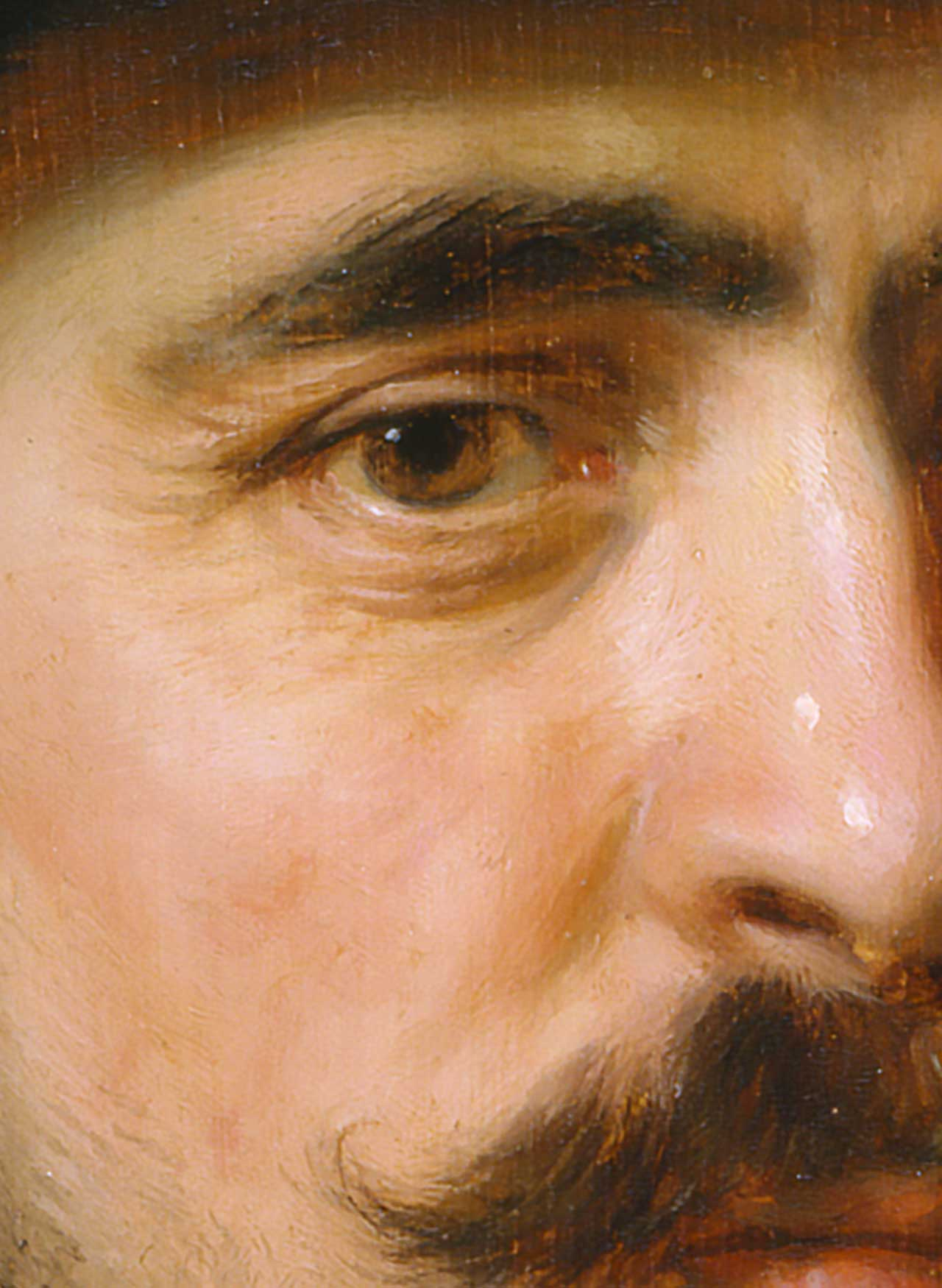 Portrait of a Bearded Man in a Wide-Brimmed Hat - Detail (Norton Simon Museum of Art)